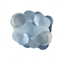 Pearl Light Blue Foil Confetti | 10mm Metallic Round | 50g Bag